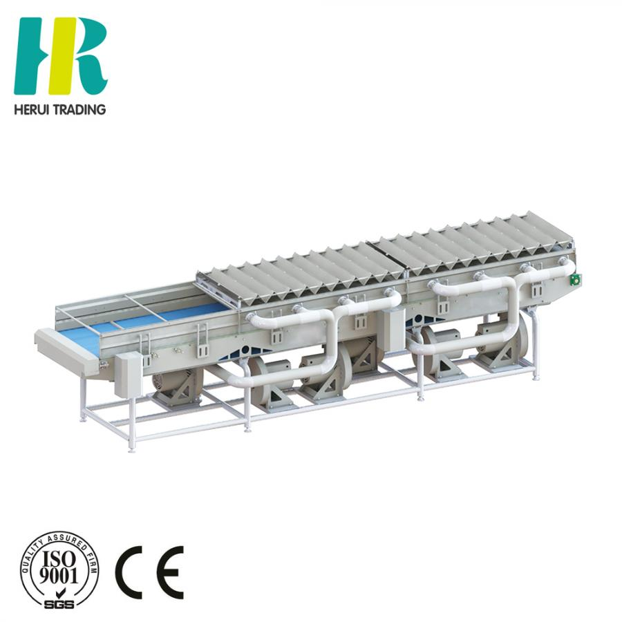 Fruit and vegetable draining machine