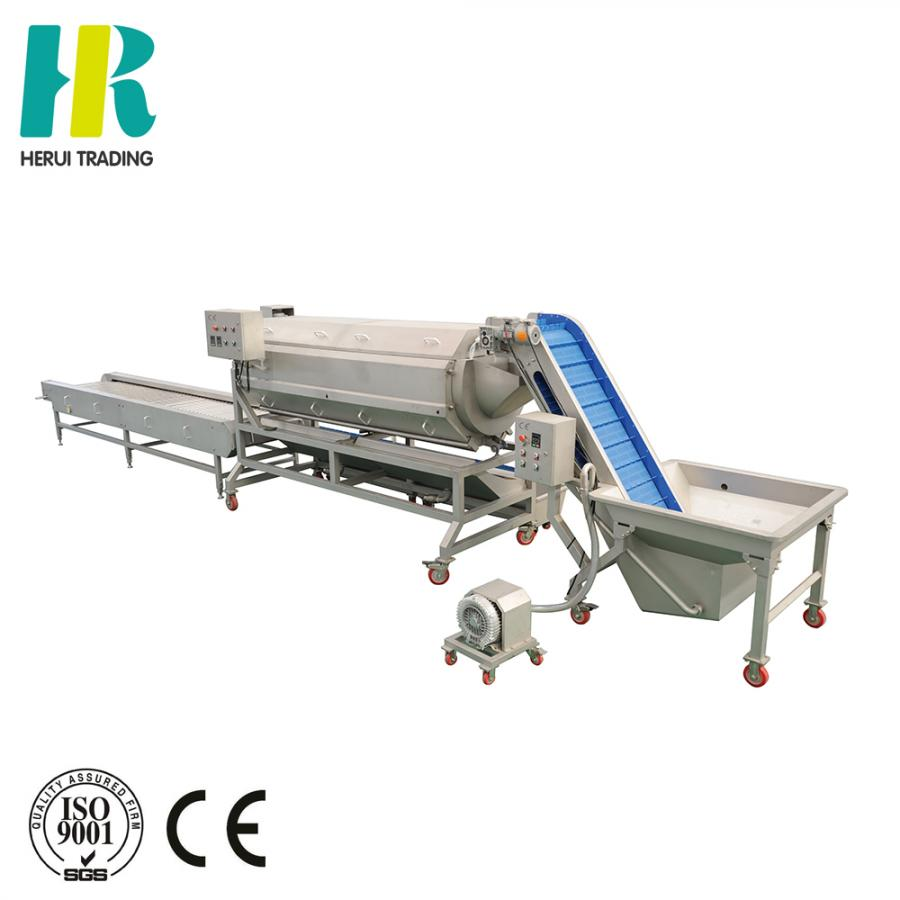 Fruit and vegetable peeling machine