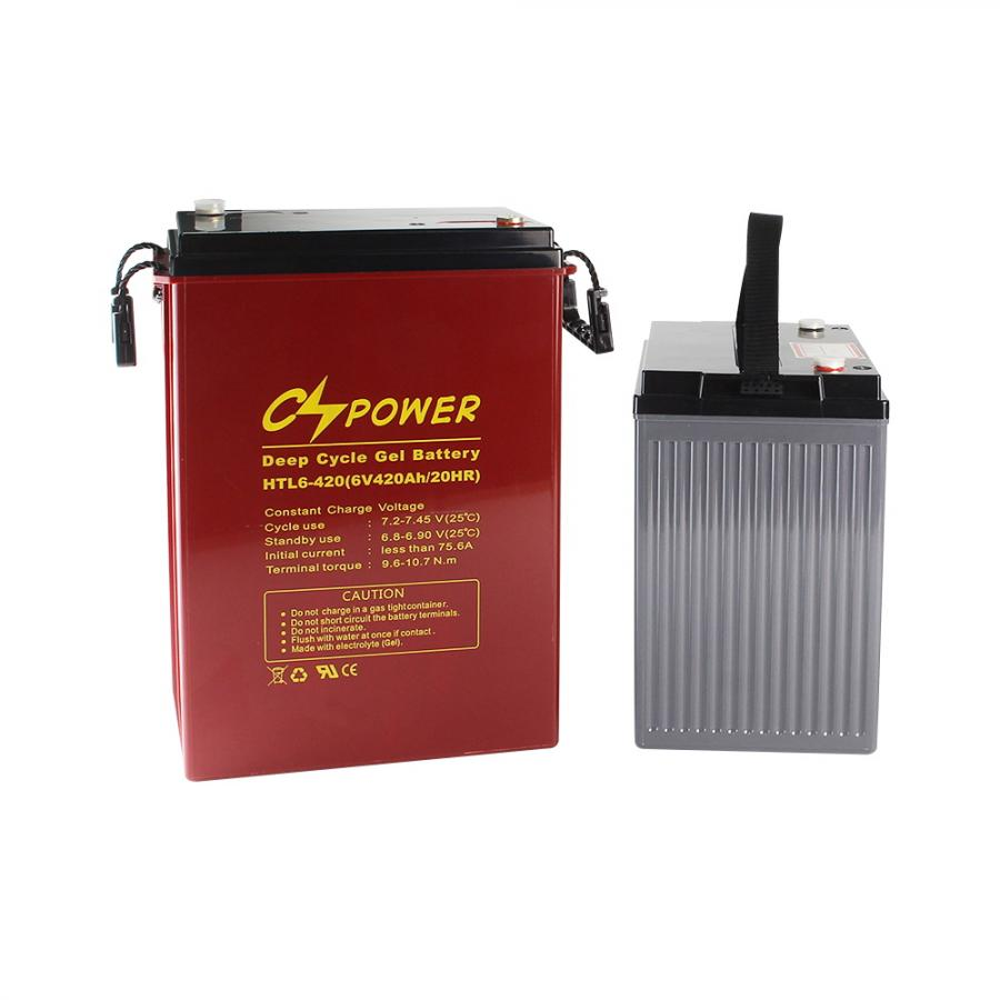 6V 8V High temperature deep cycle gel battery