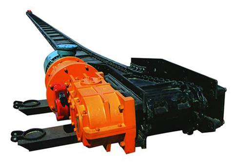 chain plate conveyor for ore material