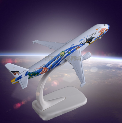 Static Exhibit Airplane Model OEM Airbus 320 Bangkok Airways Metal Crafts Manufacturer Direct Sales
