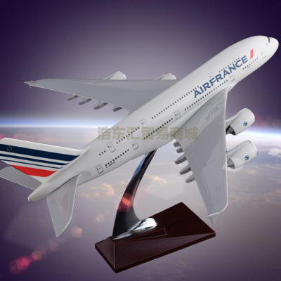 Scale Model Aircraft Resin crafts Airbus 380 Air France Plane Model Engine Blade Hollow Design
