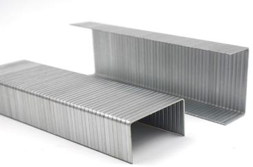 Galvanized carton closing staples