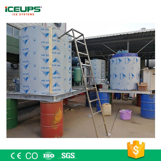 Energy Saving Industrial ICE Flake Making Machine 6T for Wine Industry