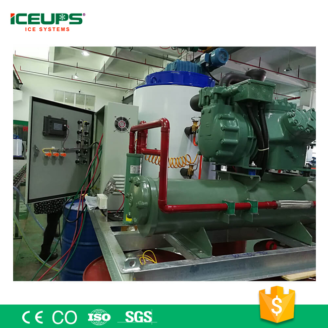 Chromed Evaporator ICE Maker Machine 20Ton for Industrial Concrete Cooling