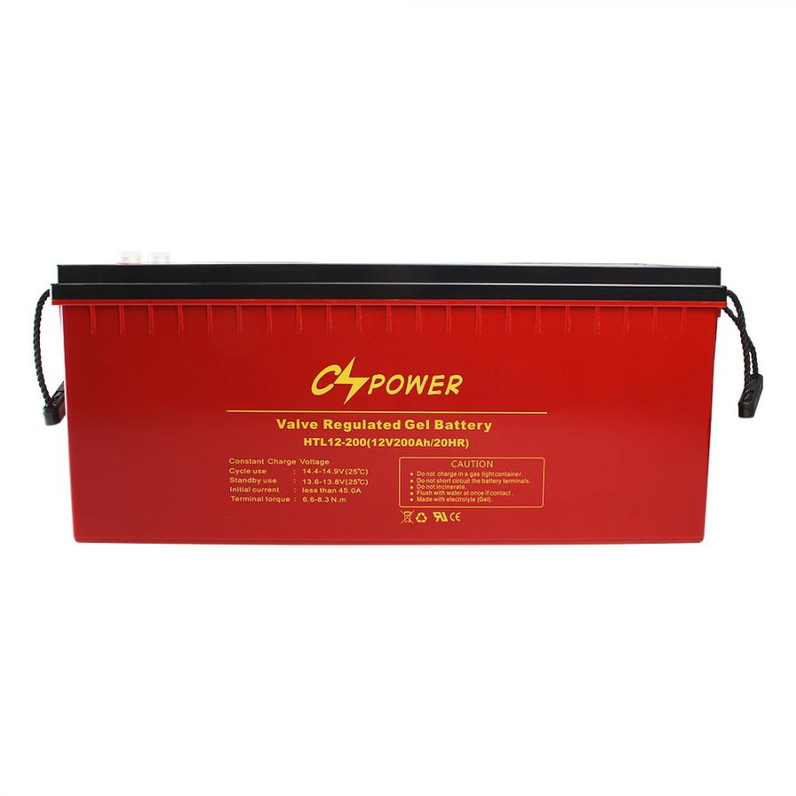 12V 200AH High tempearature deep cycle gel battery