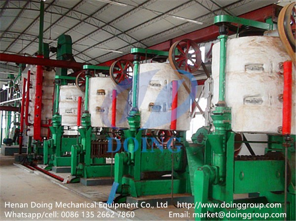 Sunflower seed oil production process plant press machine