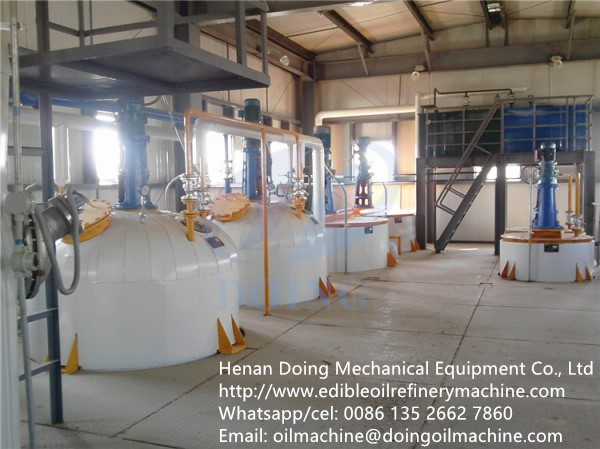 20-50tpd big capacity semi-continuous soybean oil refining machine