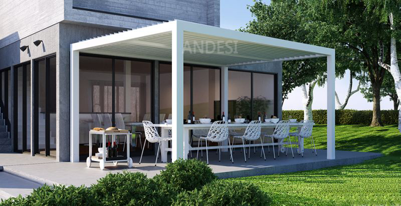 luxury design aluminum bioclimatic pergola with louver roof