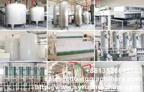 Industrial glucose syrup production process