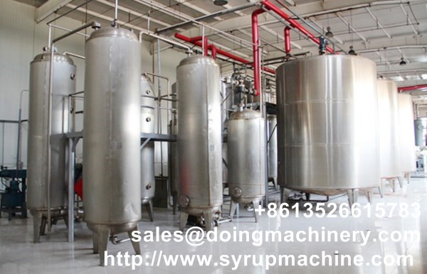 High fructose corn syrup production line in fructose production plant