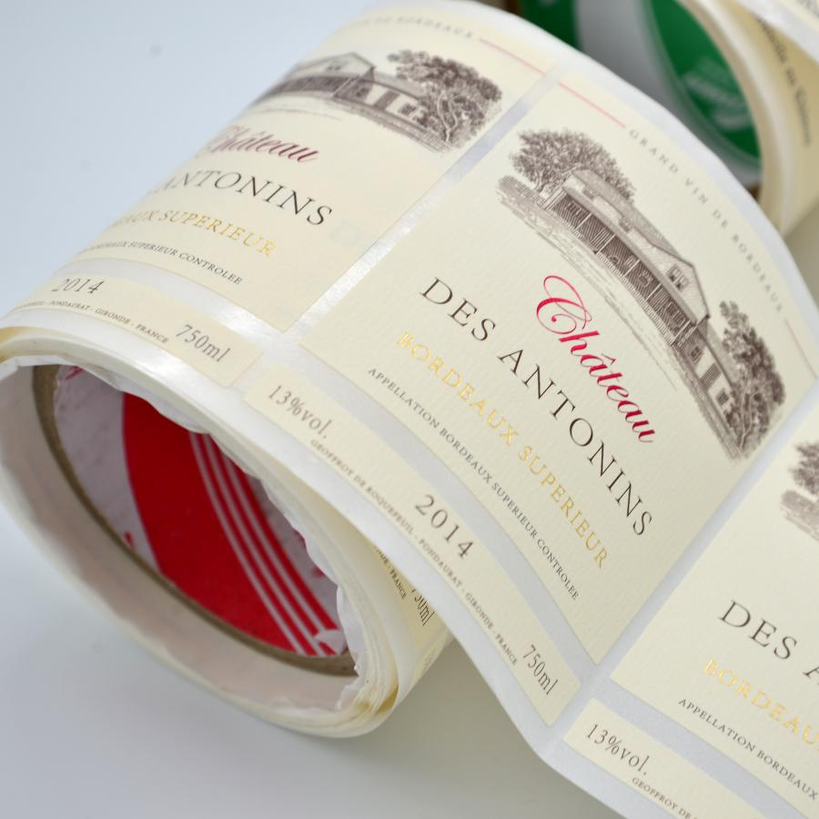 high quality waterproof adhesive wine labels
