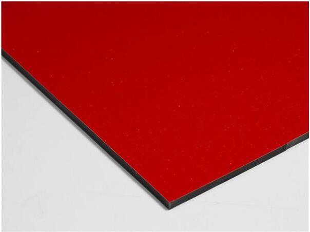 Chinese Red Building Wall Decoration Material Aluminum Composite Panel
