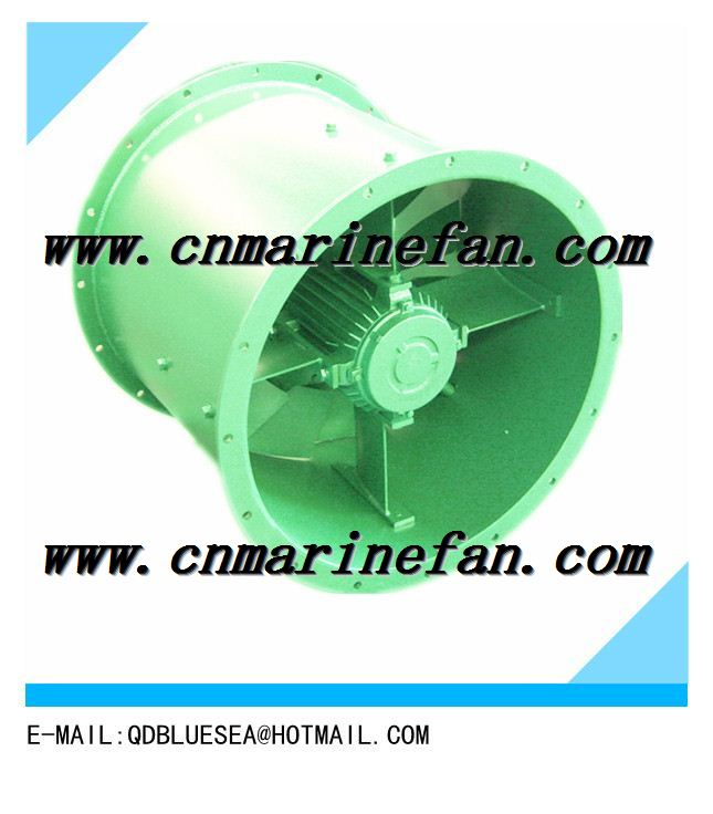 Marine axial flow ventilation fan