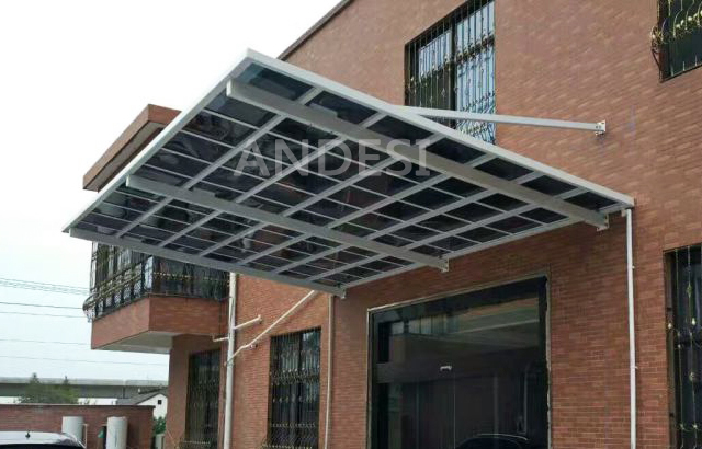 cantilever canopy wall mounted shelter