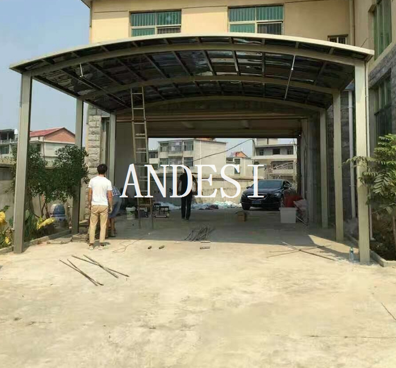 metal double carport for driveway shelter