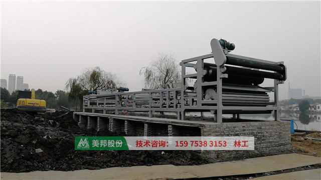 belt press filter for sewage treatment process