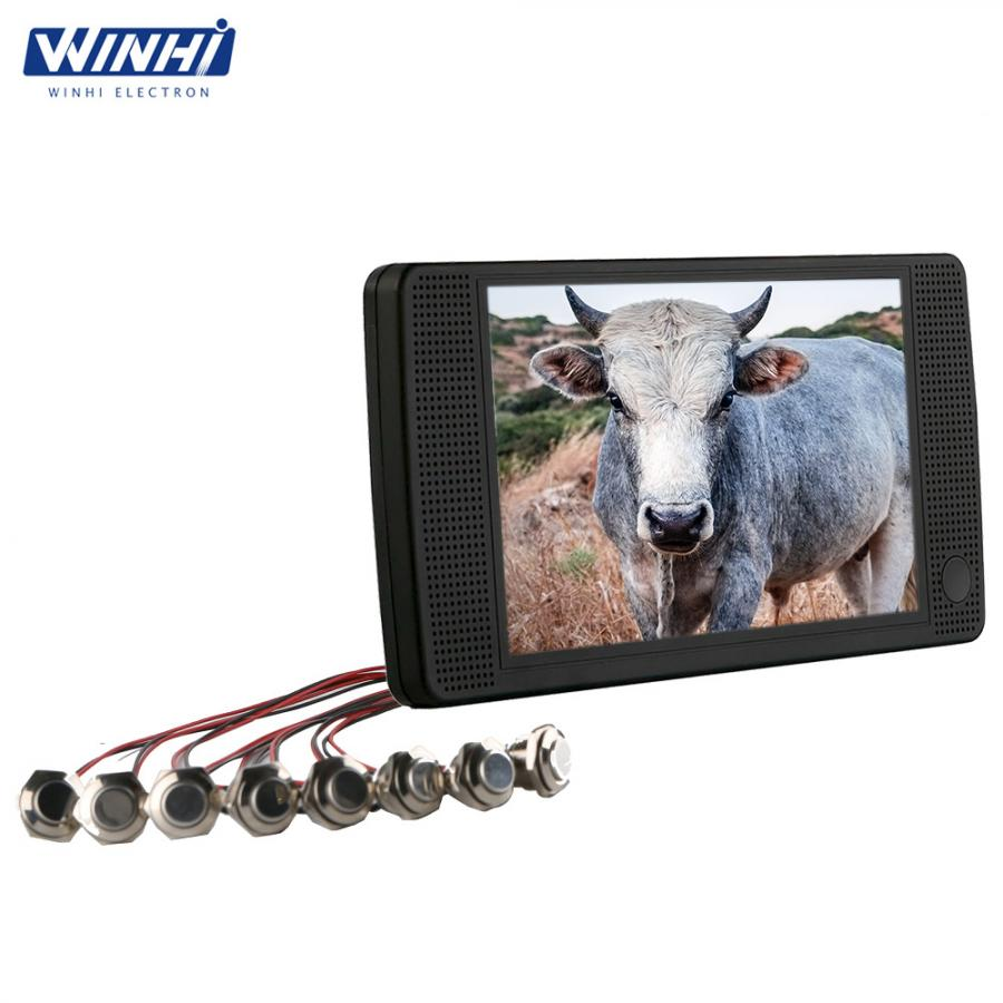 7inch HD plastic shell video player push button lcd advertising display