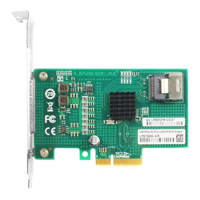 Linkreal Four-Lane PCIe 2.0 to 4 Port SATA 3.0 6Gbps RAID Controller Card with Marvell chip 88SE9230