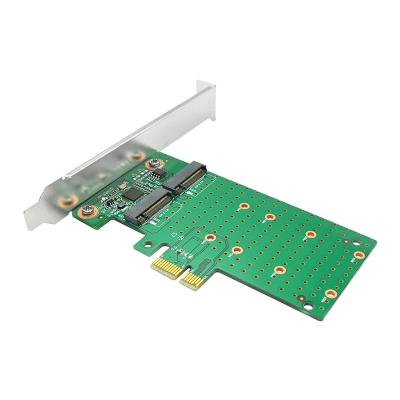 Linkreal Dual PCIe 2.0 to M.2 SATA Host Bus Adapter with ASMedia1061 Chipset m2 sata adapter