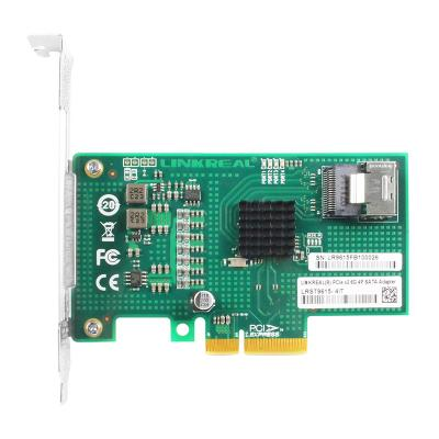 Linkreal One-Lane PCIe 2.0 to 4 Port SATA 3.0 Expansion Card