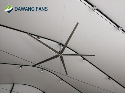 7.3m large industrial ceiling fan with 5pcs blades for workshop and warehouse