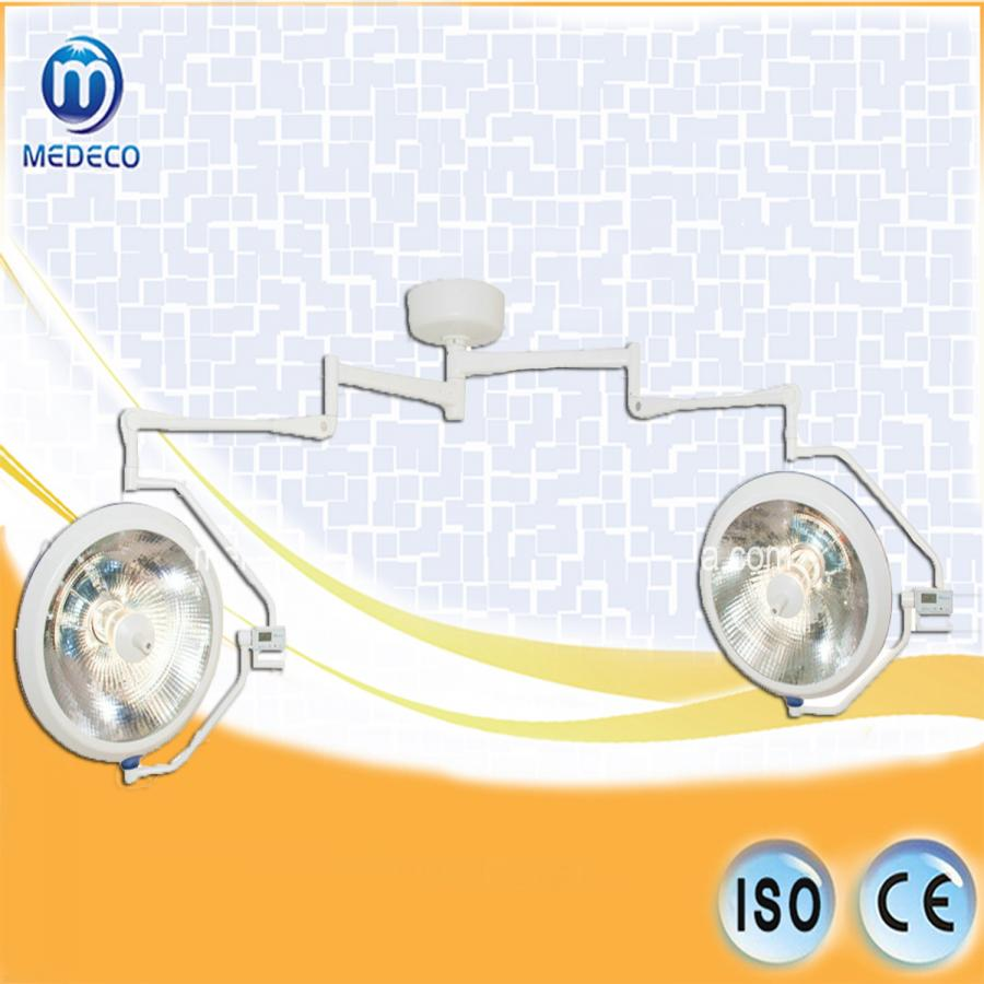 Halogen Shadowless Two Dome ceiling Operating Light (XYX-F700/500 ECOA038) Medical Lamp