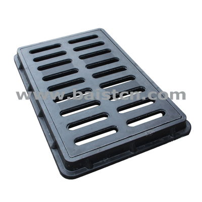 SMC Water Grate 450x750mm Pass Load 30tons With Corrosion Resistance